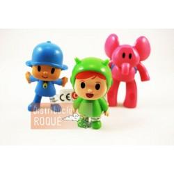 Figuras Doraemon, Peppa Pig, Pocoyo
